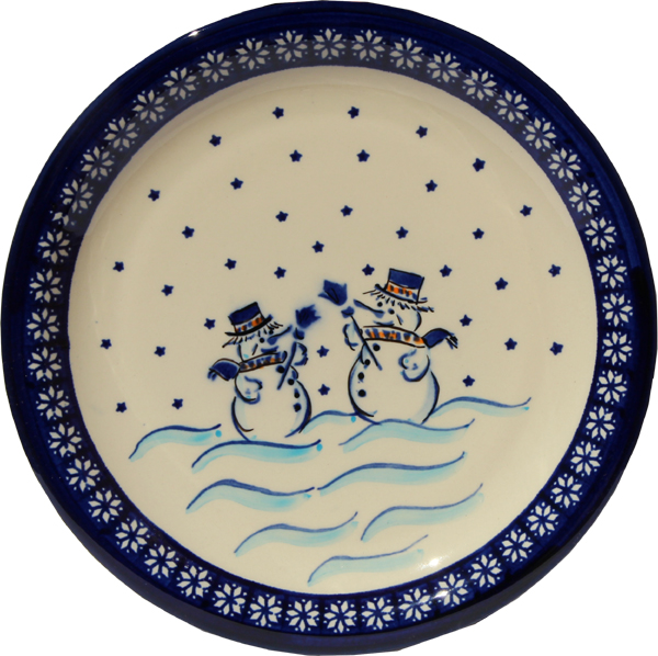 Polish Pottery Dinner Plate, Classic Design 476a