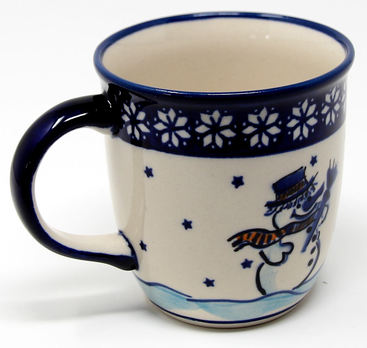 Polish Pottery Mug 12 Oz., Classic Design 476a