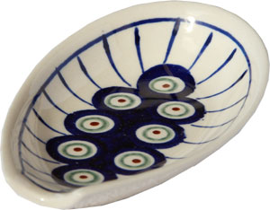Polish Pottery Spoon Rest, Classic Design 8
