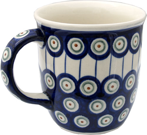 Polish Pottery Mug 12 Oz., Classic Design 8