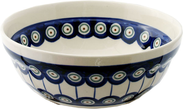 Polish Pottery Cereal / Salad Bowl, Classic Design 8
