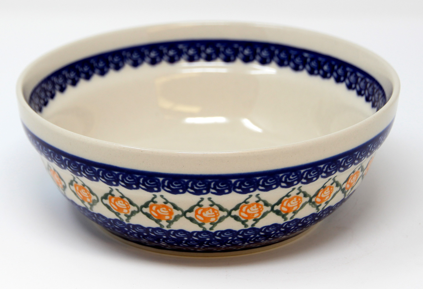 Polish Pottery Cereal / Salad Bowl