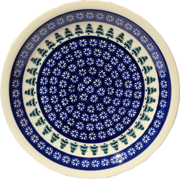 Polish Pottery Dinner Plate, Classic Design 914