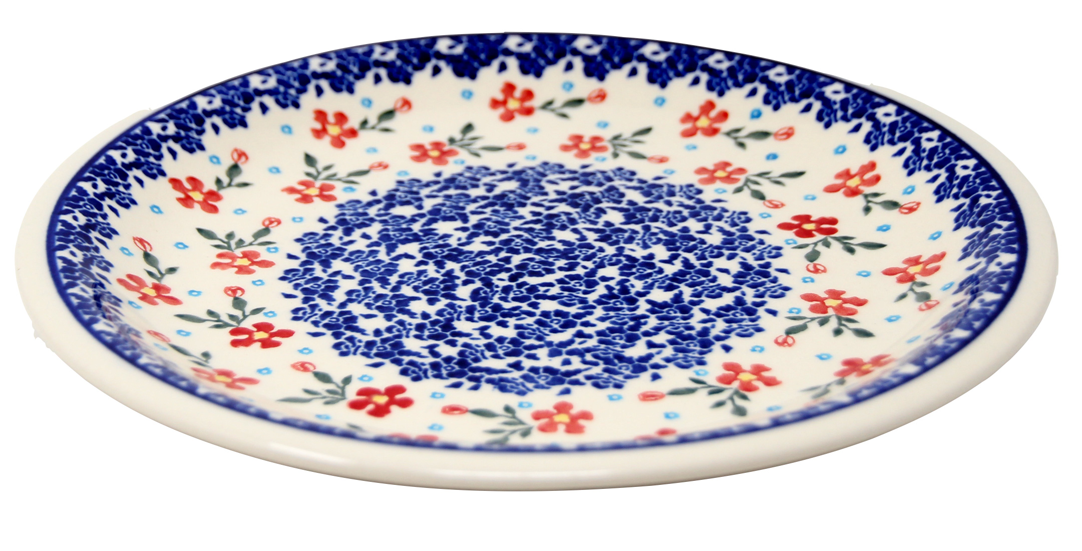 Polish Pottery Dinner Plate, Classic Design 964