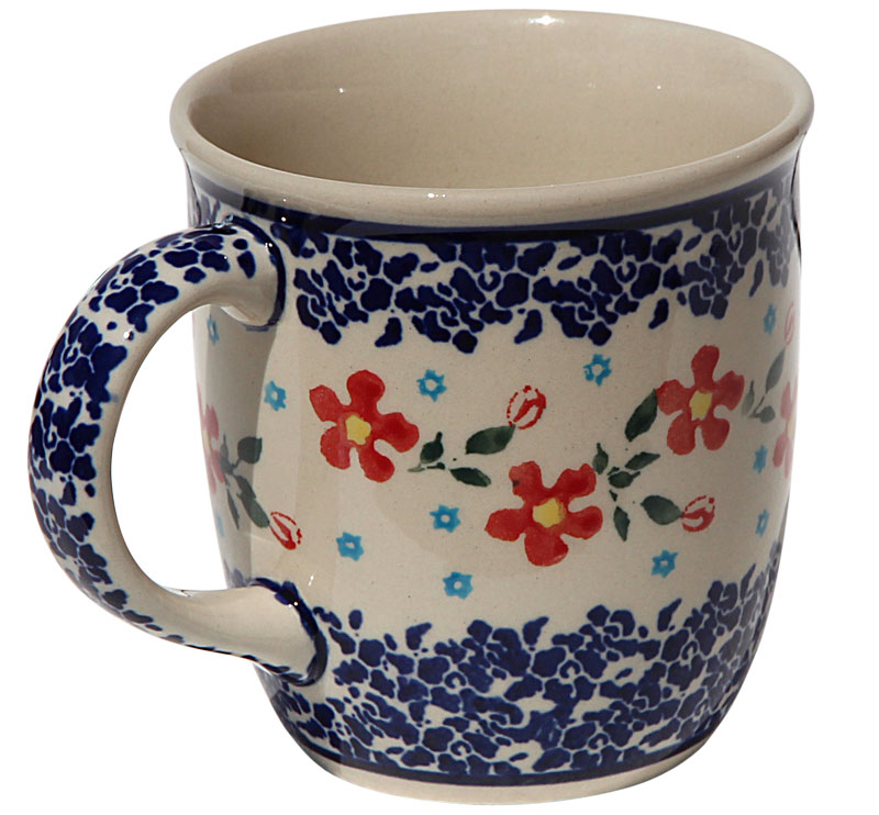 Polish Pottery Mug 12 Oz., Classic Design 964