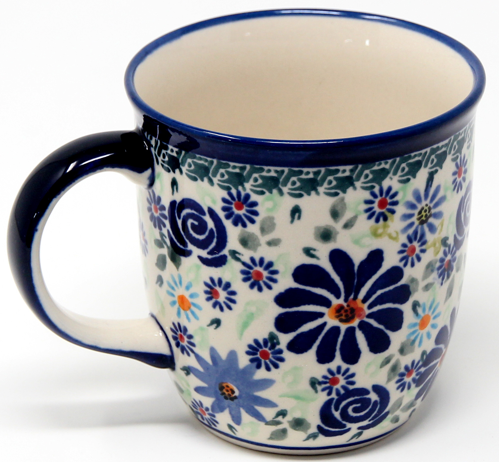Mug 12 Oz. Polish Pottery made by Zaklady in DU126 Pattern