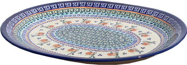 Polish Pottery Large Serving Platter, Unikat Design DU71