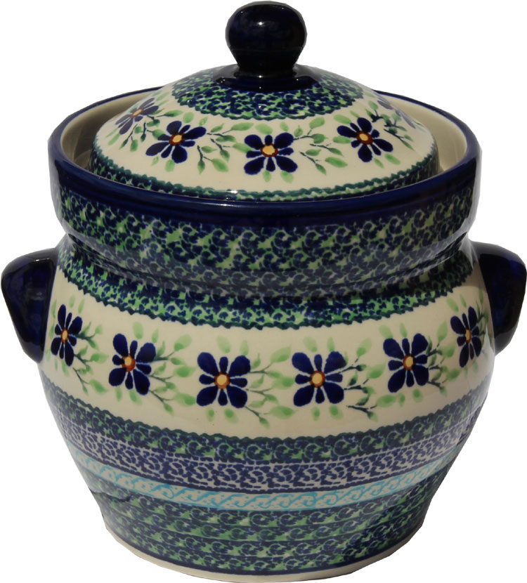 Polish Pottery Fermenting Crock Pot 1.7 liter / 1.8 quart, Unikat Design DU121
