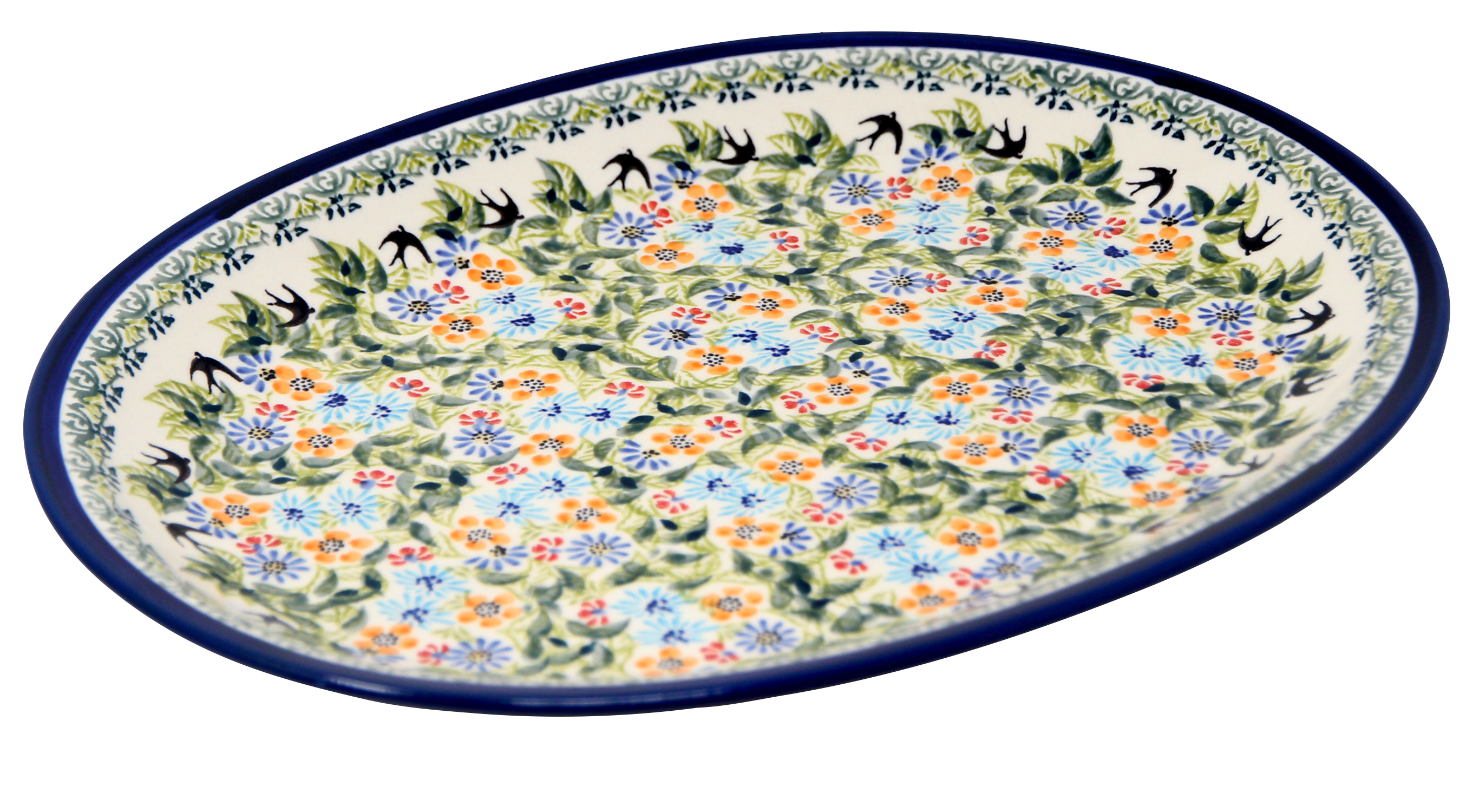 Large Serving Platter Polish Pottery from Zaklady in DU182 pattern