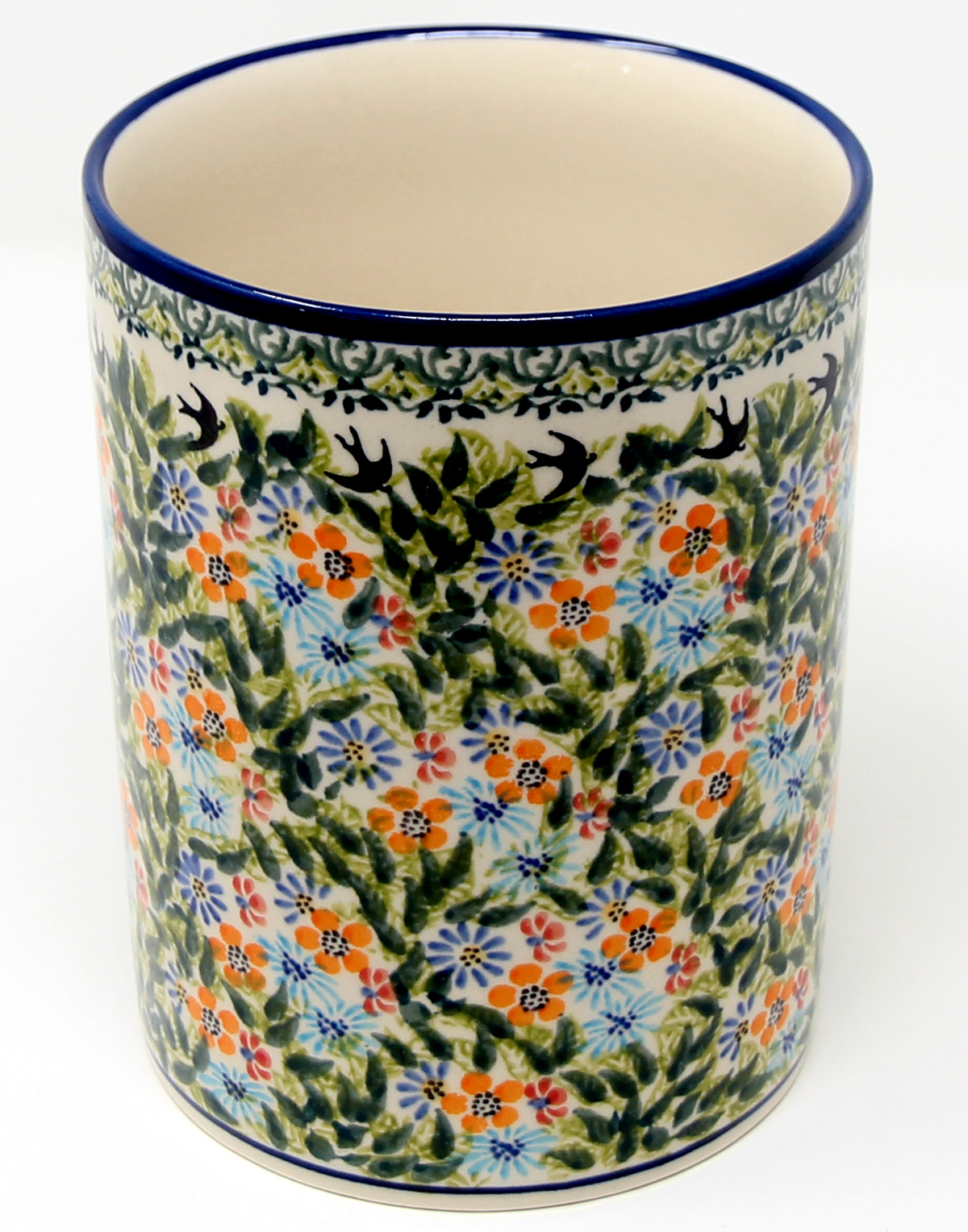 Utensil Holder, Polish Pottery from Zaklady Boleslawiec