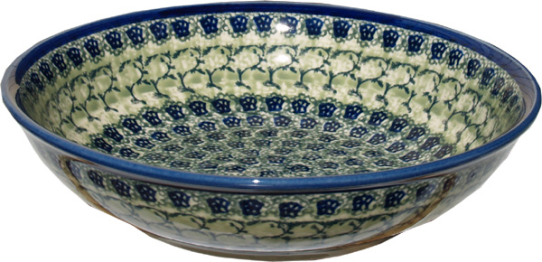 Polish Pottery Bowl 10 Inch, Unikat Design DU41