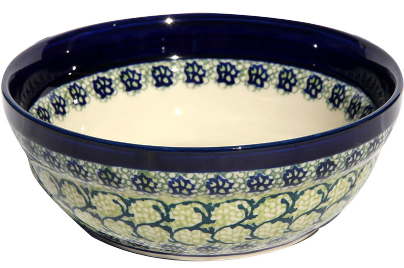 Polish Pottery Cereal / Salad Bowl, Unikat Design DU41