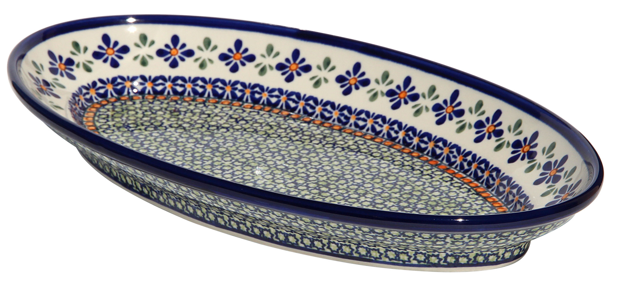 Polish Pottery Large Oval Serving Dish, Unikat Design DU60