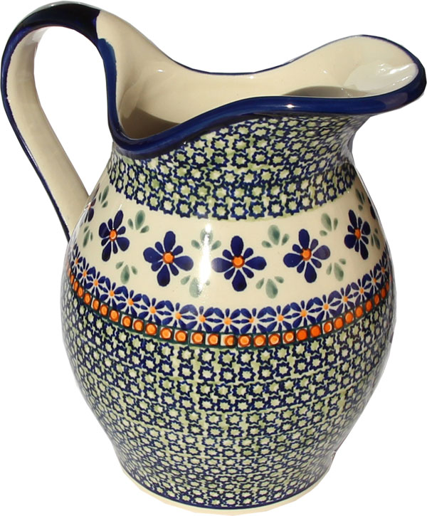 Polish Pottery Pitcher, Unikat Design DU60