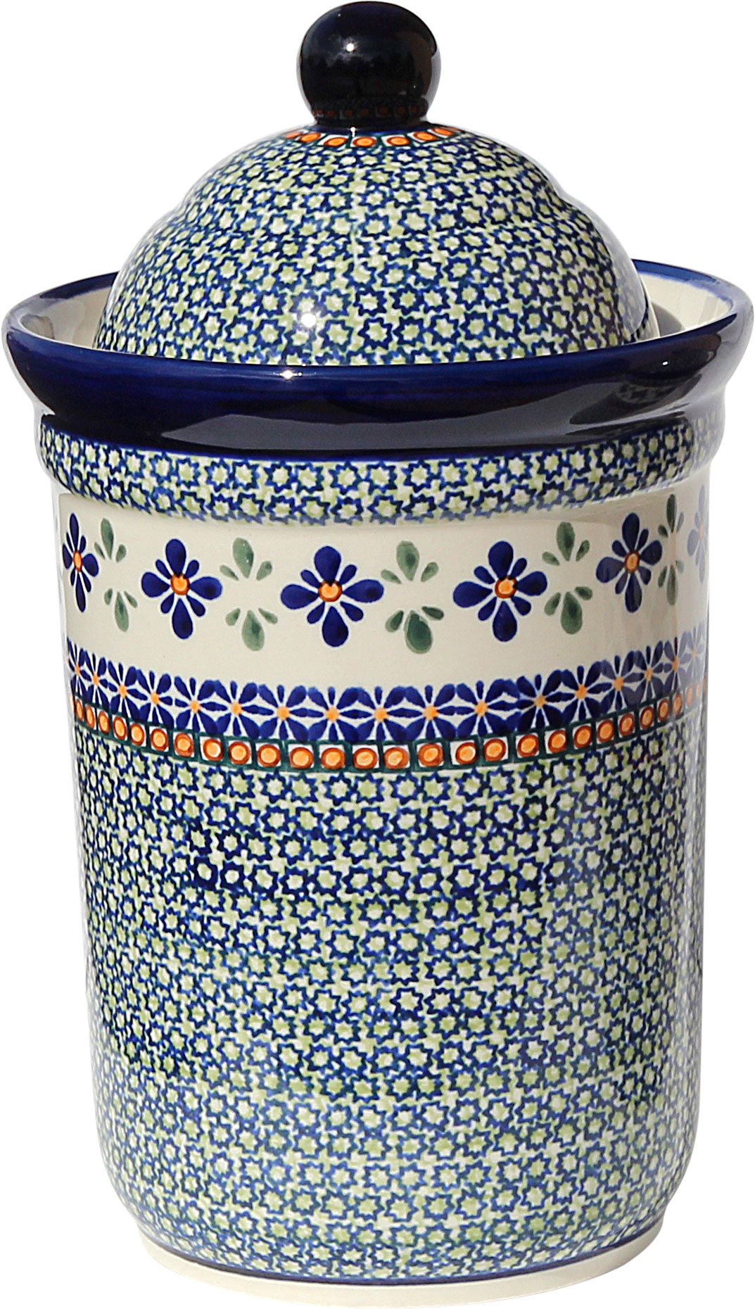 Polish Pottery Canister 10 Cups