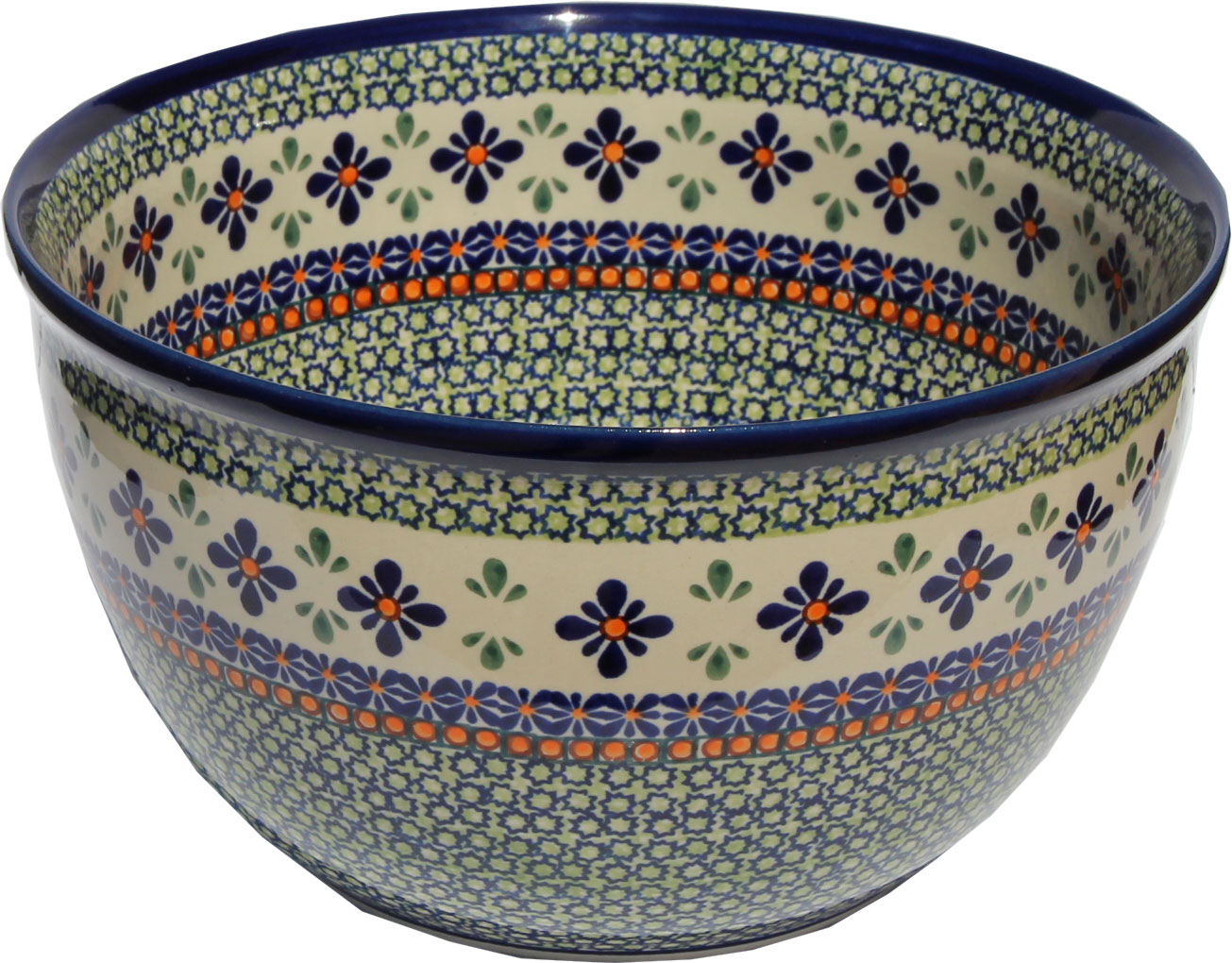 Polish Pottery Mixing Bowl Large 19 Cups
