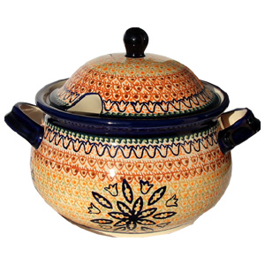 Polish Pottery Soup Tureen, Unikat Signature 117 Art
