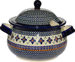 Polish Pottery Soup Tureen, Unikat Design DU60