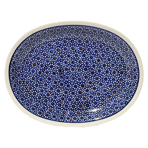 Polish Pottery Medium Serving Platter, Classic Design 120
