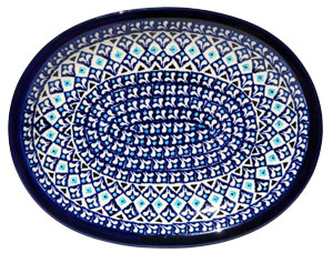 Polish Pottery Medium Serving Platter, Classic Design 217a