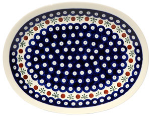 Polish Pottery Medium Serving Platter, Classic Design 41