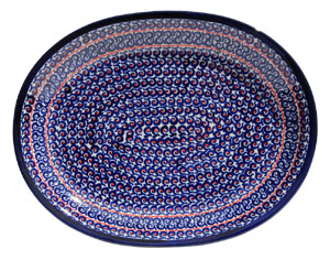 Polish Pottery Large Serving Platter, Classic Design 1126a