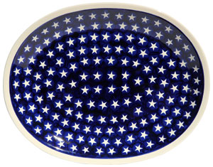 Polish Pottery Large Serving Platter, Classic Design 82