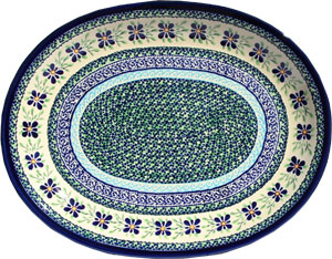 Polish Pottery Large Serving Platter, Unikat Design DU121