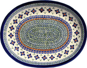 Polish Pottery Large Serving Platter, Unikat Design DU60
