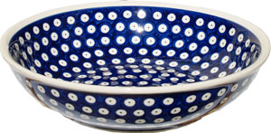 Polish Pottery Bowl 10 Inch, Classic Design 42