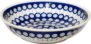 Polish Pottery Bowl 10 Inch, Classic Design 8