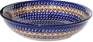 Polish Pottery Bowl 10 Inch, Unikat Design DU79