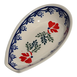 Polish Pottery Spoon Rest, Classic Design 1115