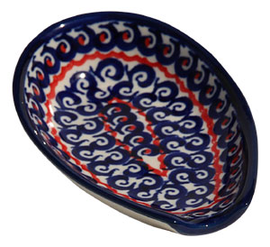 Polish Pottery Spoon Rest, Classic Design 1126a
