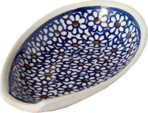 Polish Pottery Spoon Rest, Classic Design 120