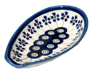 Polish Pottery Spoon Rest, Classic Design 166a