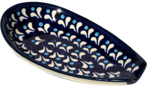 Polish Pottery Spoon Rest, Classic Design 217a