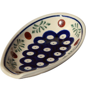 Polish Pottery Spoon Rest, Classic Design 242