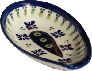 Polish Pottery Spoon Rest, Classic Design 296a