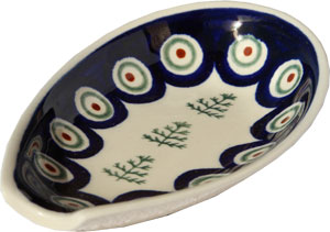 Polish Pottery Spoon Rest, Classic Design 312