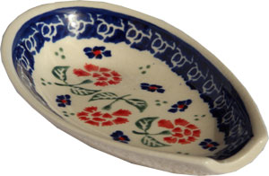 Polish Pottery Spoon Rest, Classic Design 963