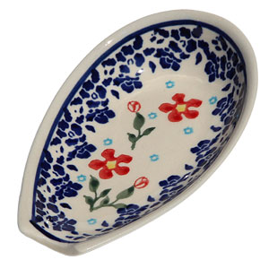 Polish Pottery Spoon Rest, Classic Design 964