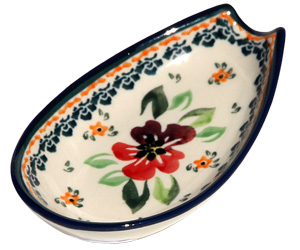 Polish Pottery Spoon Rest, Unikat Design DU116