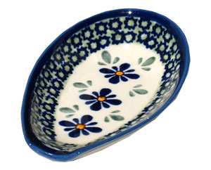 Polish Pottery Spoon Rest, Unikat Design DU60