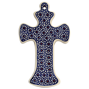 Polish Pottery Cross, Classic Design 120
