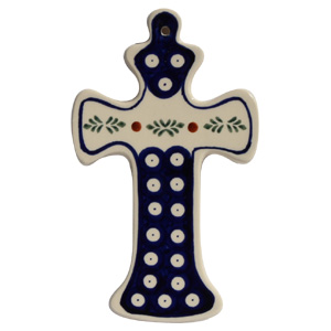 Polish Pottery Cross, Classic Design 242