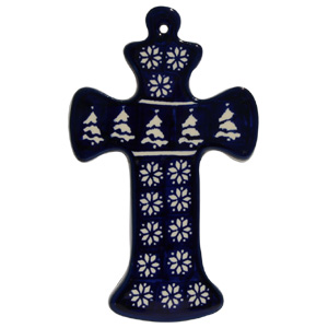 Polish Pottery Cross, Classic Design 243a