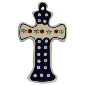 Polish Pottery Cross, Classic Design 41