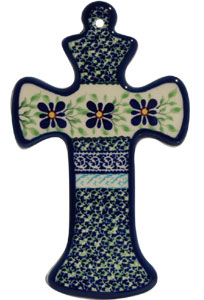 Polish Pottery Cross, Unikat Design DU121