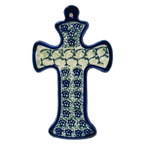 Polish Pottery Cross, Unikat Design DU41